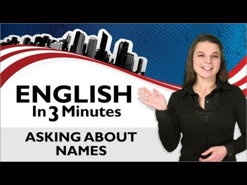 English in 3 Minutes #5 - What's your Name?