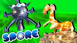 ALIEN ABDUCTIONS and EPIC ENEMIES! - Spore Gameplay