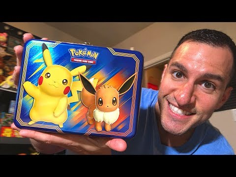 Opening NEW Pokemon Cards PIKACHU And EEVEE COLLECTOR'S CHEST TIN! (Pokemon Lost Thunder)
