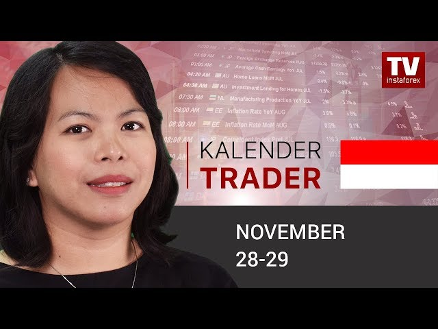 InstaForex tv calendar. Kalendar pedagang  27 - 28 November: Trader siap untuk membeli USD (EUR/USD, USD/CAD)