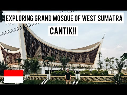 (ALHAMDULILLAH!!) EXPLORING GRAND MOSQUE OF WEST SUMATRA (PADANG - INDONESIA)