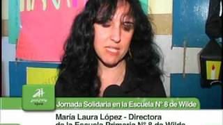 preview picture of video 'Jornada Solidaria en la Escuela Nº 8 de Wilde'