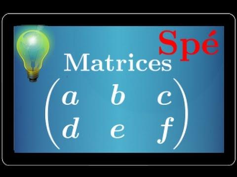 Matrice : introduction - définition - spé maths - Terminale S et ES
