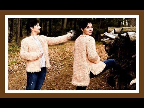 Jacke stricken für Anfänger ganz einfach Anleitung I We are Knitters Wolle