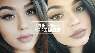 KYLIE JENNER INSPIRED MAKEUP TUTORIAL  Natural Smoky Eye + Classic Kylie Lip