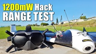DJI Digital FPV System Maximum Range Test (1200mW Hack) - How Far on 4GLte Parrot Disco?