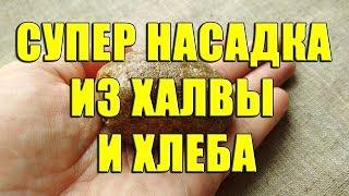 Прикормка из черного хлеба и халвы