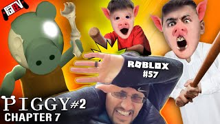 ROBLOX PIGGY's DAD vs FGTEEV! Escape Chapter 7 Metro! (Peppa Granny Gameplay / Skit #57)