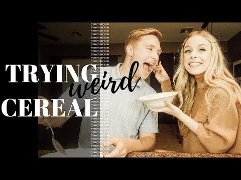 TRYING WEIRD CEREAL