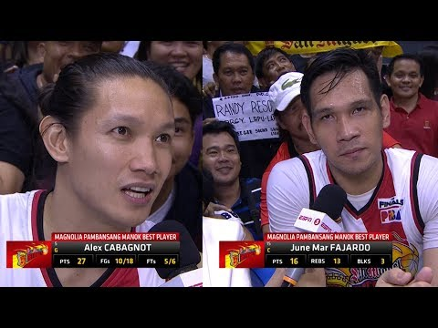 Best Players: Alex Cabagnot and June Mar Fajardo | PBA Philippine Cup 2018