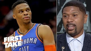 Russell Westbrook's Jazz-fan altercation could spark an ugly trend - Jalen Rose | First Take