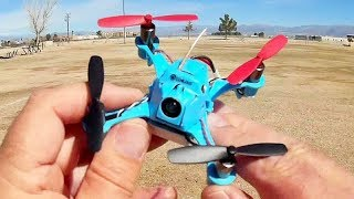 Upgraded Eachine QX90C Pro High Speed Micro FPV Racer Drone Flight Test Review