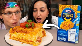 Making Gourmet Mac And Cheese With Hot Dogs (Kid Food Upgrade)