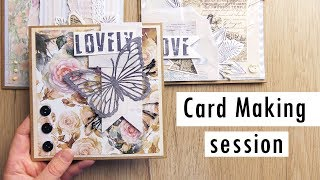 Vintage Collage Cards Tutorial: Card Making Session With InLoveArt Shop Supplies