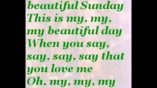 October Cherries - Beautiful Sunday (with Lyrics)