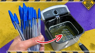 Deep Frying 50 Pens... What Could Go Wrong?