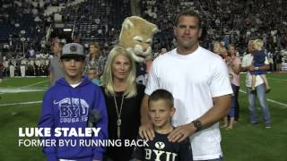 BYU Hall of Famers Rob Morris and Luke Staley honored