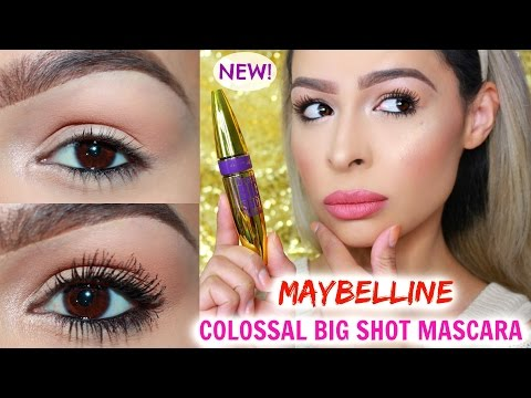NEW! MAYBELLINE COLOSSAL BIG SHOT MASCARA REVIEW & DEMO