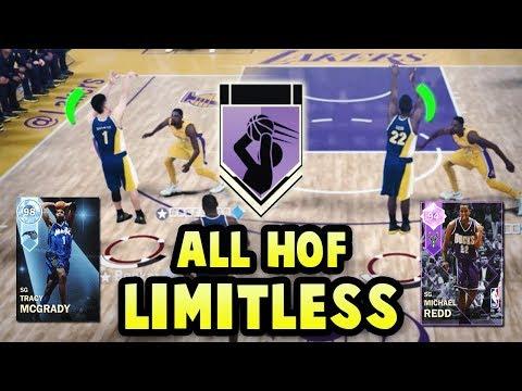 NBA 2K18 ALL HALL OF FAME LIMITLESS RANGE SQUAD! *13x HOF LIMITLESS*   NBA 2K18 MyTEAM SQUAD BUILDER