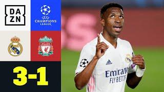 Doppelter Vinicius! Real legt vor: Real Madrid - Liverpool 3:1 | UEFA Champions League | DAZN