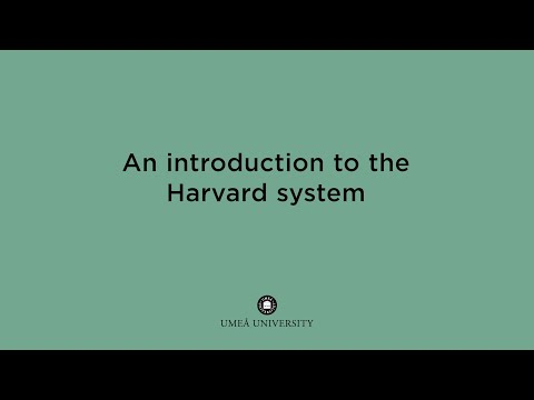 Film: Introduction to the Harvard system