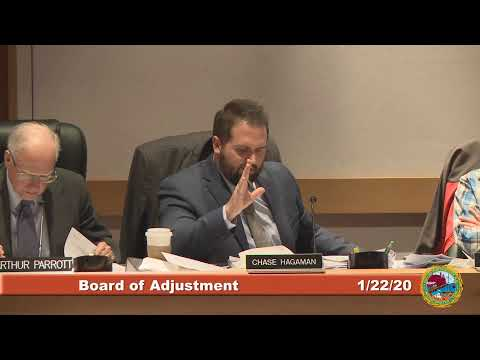 Board of Adjustment 1.22.20