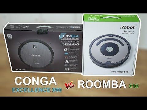 Conga Excellence 990 vs Roomba 616 ¿cuál de los dos aspira mejor?
