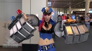 OFFICER VI! Lisa Lou's League of Legends Cosplay at PAX EAST 2014