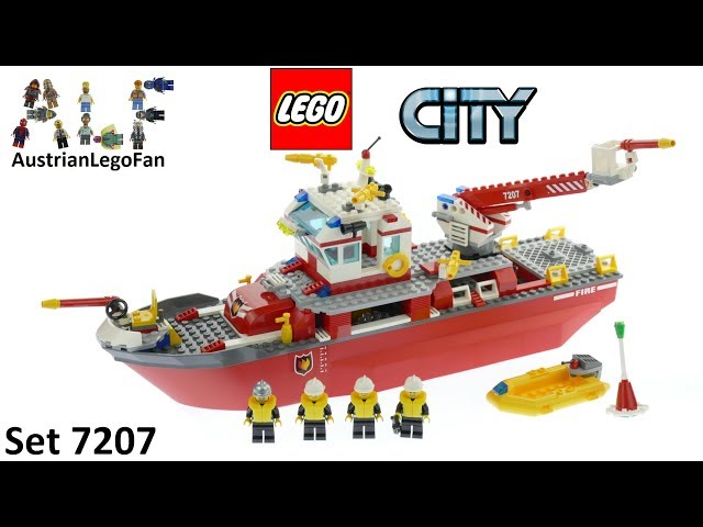Lego City 7207 Fire Boat - Lego Speed Build Review