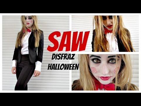 SAW - Maquillaje Y Disfraz Casero Billy Halloween Sencillo y Rapido - DIY