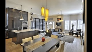 121 Modern Open Concept - Kitchen Dining Living Room All Together   Open Plan Kitchen Ideas