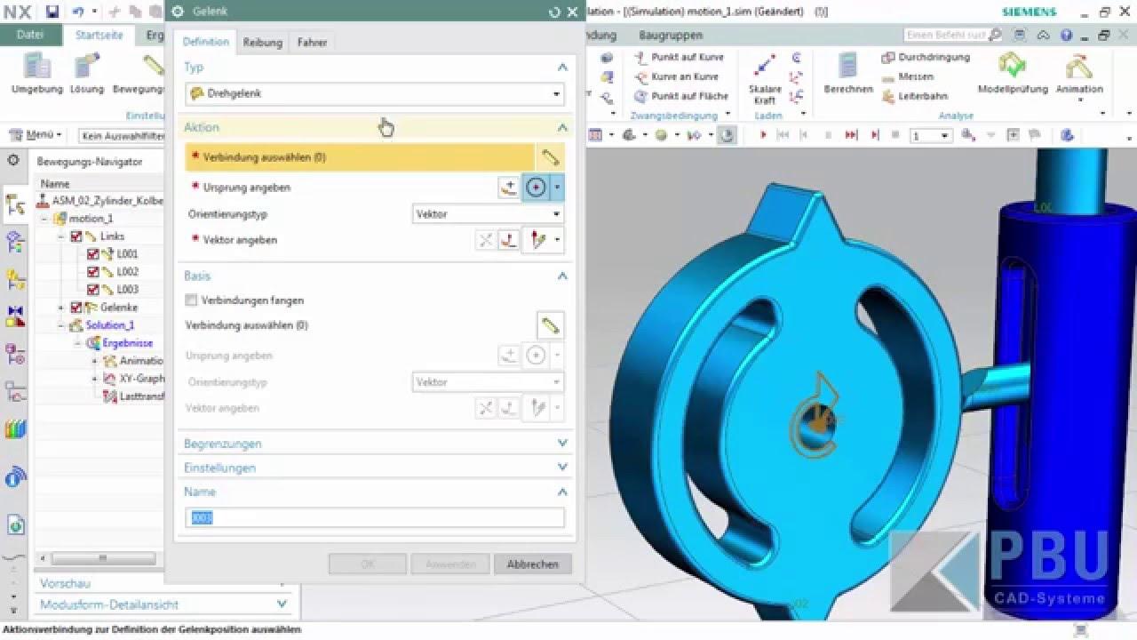 Vorschaubild: NX Tutorial: Dynamische Analysen mit Motion Simulation