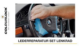 Lederlenkrad Aufbereitung / Speckiges Lederlenkrad reinigen, pflegen und nachfärben / Lederzentrum
