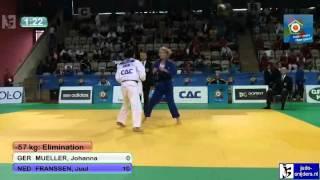 Judo 2012 European Championship U23 Prague: Mueller (GER) - Franssen (NED) [-57kg]