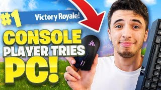 MY FIRST PC WIN ON FORTNITE?! - FORTNITE BATTLE ROYALE