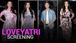 Sonakshi Sinha, Iulia Vantur, Arpita Attend Aayush Sharma & Warina Hussain's 'LoveYatri' Screening