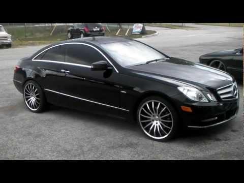 Dubsandtires.com 2012 Mercedes E-Class E-350 Coupe Review 20 inch Giavonni Moncelli Forgiato Rims