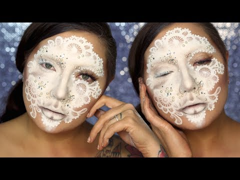 Pearl & Lace Mask Makeup Tutorial