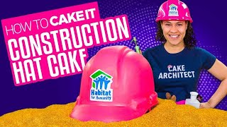 How To Make a Pink Construction Hat out of Vanilla CAKE!   Yolanda Gampp   How To Cake It