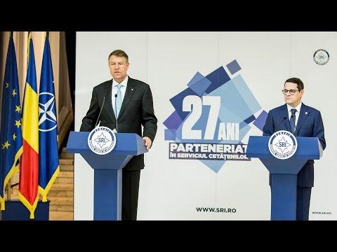 Declaratia de presa a Presedintelui Romaniei, domnul Klaus Iohannis - Bilant SRI 2016