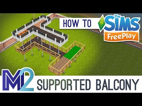 Sims FreePlay - Support Post Balconies (Tutorial)