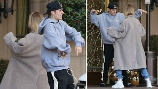 Justin Bieber And Hailey Baldwin Have A DANCE-OFF At The Valet - EXCLUSIVE