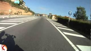 preview picture of video 'Trams en moto, C-55, B-112 cruïlla - Monistrol de Montserrat. 001'