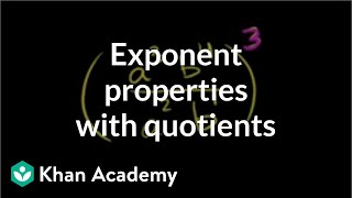 Exponent Properties Involving Quotients