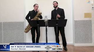 DUO Marin BALSSA et Etienne BOUSSARD play Duos by C. Monniot #adolphesax