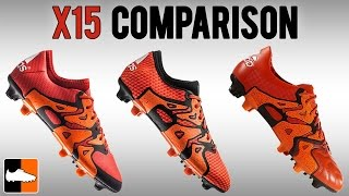 Which X15 is for you? Primeknit vs. Leather vs. 15.1 adidas X Boots Compared