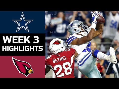Cowboys vs. Cardinals NFL Week 3 Game Highlights