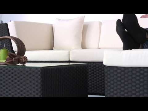 rattan gartenmöbel leonardo lounge