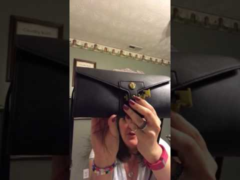 Anne Klein Christy clutch what's in my purse / review