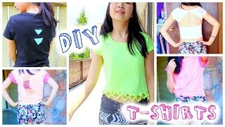 4 Easy DIY Tumblr T-Shirt Up Cycling Projects!